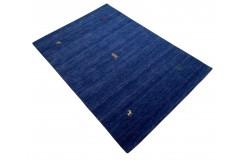 Niebieski ekskluzywny dywan Gabbeh Loribaft Indie 120x180cm 100% wełniany
