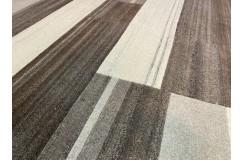 Welniany ręcznie tkany dywan Nepal Premium w prostokąty brązowo-beżowy 200x250cm