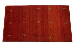 Piękny nowoczesny dywan klasyczny Gabbeh 100% wełna argentyńska czerwony 90x160cm