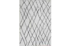 Piękny dywan Shaggy super soft 90x160cm 100% poliester, biały, czarny