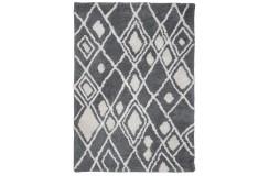 Piękny dywan Shaggy super soft 90x160cm 100% poliester, szary, biały