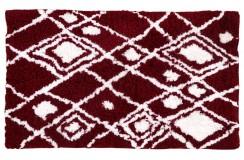 Piękny dywan Shaggy super soft 120x180cm 100% poliester, czerwony, biały