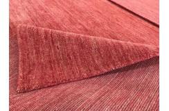 Gładki 100% wełniany dywan Gabbeh Lori Handloom różowy 170x240cm