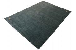 Gładki 100% wełniany dywan Gabbeh Handloom Lori niebieski 200x300cm delikatne motywy zwierzęce