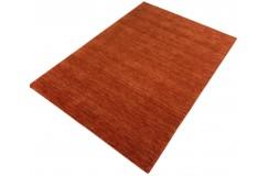 Gładki 100% wełniany dywan Gabbeh Handloom Lori pomarańczow bez wzorów, różne wymiary