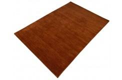 Gładki 100% wełniany dywan Gabbeh Handloom ceglasty 120x180cm bez wzorów
