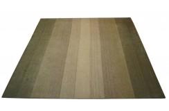 100% wełniany dywan Gabbeh Handloom w pasy 250x300cm beż brąz