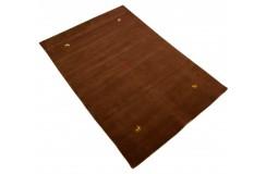 Gładki 100% wełniany dywan Gabbeh Handloom brązowy 120x180cm