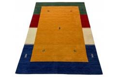 Kolorowy pomarańczowy ekskluzywny dywan Gabbeh Loribaft Indie 200x300cm 100% wełniany