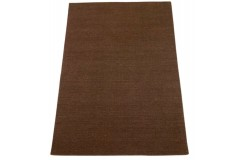 Brązowy kilim Durry 100% wełniany dywan płasko tkany 160x230cm dwustronny Indie