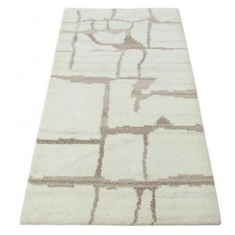 100% welniany ręcznie tkany dywan Nepal Premium naturalny 70x140cm vintage