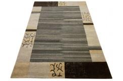 100% welniany ręcznie tkany dywan Nepal Tybet Premium naturalny 170x240cm jasny