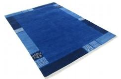 100% welniany ręcznie tkany dywan Nepal Tybet 160x230cm nowoczesny niebieski