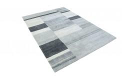 100% welniany ręcznie tkany dywan Nepal Tybet Premium brązowy 160x230cm patchwork do salonu