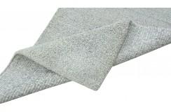 100% welniany ręcznie tkany dywan Nepal Premium naturalny szary beż 70x140cm gładki deseń