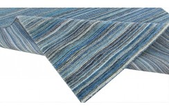 Niebieski cieniowany ekskluzywny dywan Gabbeh Loom Indie 170x240cm 100% wełniany
