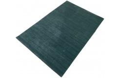 Gładki 100% wełniany dywan Gabbeh Handloom Lori zielony z deseniem, różne wymiary