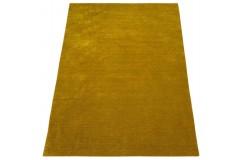 Gładki 100% wełniany dywan Gabbeh Handloom Lori złoty gładki, różne wymiary