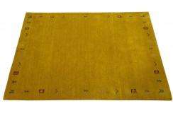 Gładki 100% wełniany dywan Gabbeh Handloom Lori złoty etniczny, różne wymiary