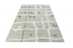 100% welniany ręcznie tkany dywan Nepal Premium brązowy 160x230cm vintage nowoczesny