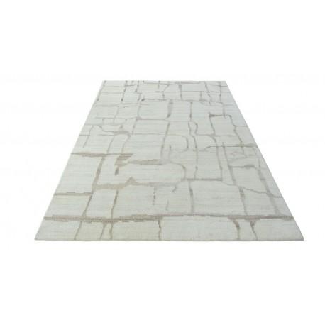 100% welniany ręcznie tkany dywan Nepal Premium naturalny 160x230cm vintage nowoczesny