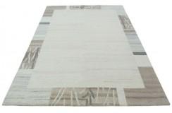 100% welniany ręcznie tkany dywan Nepal Tybet 163x225cm nowoczesny do salonu