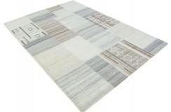 100% welniany ręcznie tkany dywan Nepal Tybet Premium brązowy szary beżowy 160x230cm patchwork vintage