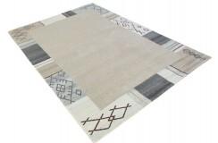 100% welniany ręcznie tkany dywan Nepal Tybet 170x240cm brązowy beżowy