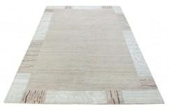 100% welniany ręcznie tkany dywan Nepal Tybet 160x230cm brązowy beżowy jasny