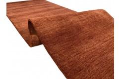 Gładki 100% wełniany dywan Gabbeh Handloom beżowy chodnik 70x250cm bez wzorów