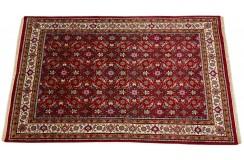 Wełniany ręcznie tkany dywan Herati z Indii 180x290cm orientalny czerwony