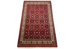 Wełniany ręcznie tkany dywan Herati z Indii 155X245cm orientalny czerwony