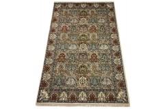 Wełniany ręcznie tkany dywan Indo-Baktjar w kwatery 200x300cm orientalny pistacjowy