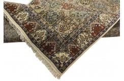 Wełniany ręcznie tkany dywan Indo-Baktjar w kwatery 250x350cm orientalny pistacjowy