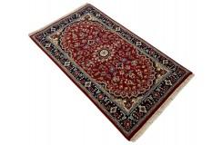 Czerwony piękny dywan Tabriz z Indii ok 90x160cm 100% wełna oryginalny ręcznie tkany perski