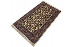 Beżowy piękny dywan Tabriz z Indii ok 90x160cm 100% wełna oryginalny ręcznie tkany perski