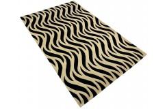 Designerski nowoczesny dywan wełniany Waves 155x245cm Indie 2cm gruby