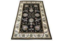 Dywan Persian 100% wełniany 155x245cm z Indii kwiatowy tradycyjny ciemny