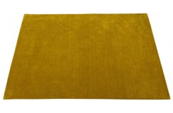 Pomarańczowy ekskluzywny dywan Gabbeh Loribaft Indie gładki 140x200cm 100% wełniany