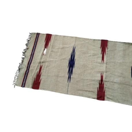 100% wełniany ręcznie tkany dywan dwustronny - kilim z Afganistanu etno
