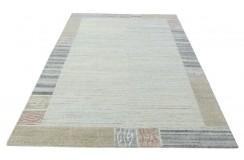 100% welniany ręcznie tkany dywan Nepal Tybet 160x220cm brązowy beżowy jasny