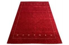 Gładki 100% wełniany dywan Gabbeh Handloom czerwony 170x240cm etniczny