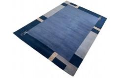 Niebieski 100% wełniany dywan Gabbeh tafting 170x240cm