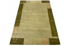 Zielony 100% wełniany dywan Gabbeh tafting 170x240cm