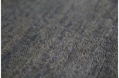 Gładki 100% wełniany dywan Gabbeh Handloom szary/zielony chodnik 70x250cm bez wzorów