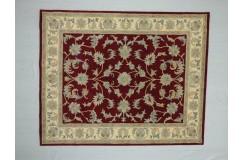 Dywan Persian Ziegler 100% wełniany 240x300cm z Indii klasyczny kwiatowy czerwony gruby Indie