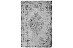 Miękki żakardowy płasko tkany dywan Obsession Milano 572 silver perski wzór vintage 160x230cm loft