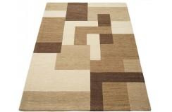 Cieniowany brązowy cieniowany geometryczny 100% wełniany dywan Gabbeh tafting 160x230cm