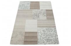 100% welniany dywan Nepal tafting 160x230cm nowoczesny do salonu patchwork