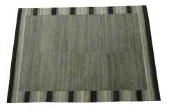 100% welniany ręcznie tkany dywan Nepal Premium szary 170x240cm nowoczesny wzór